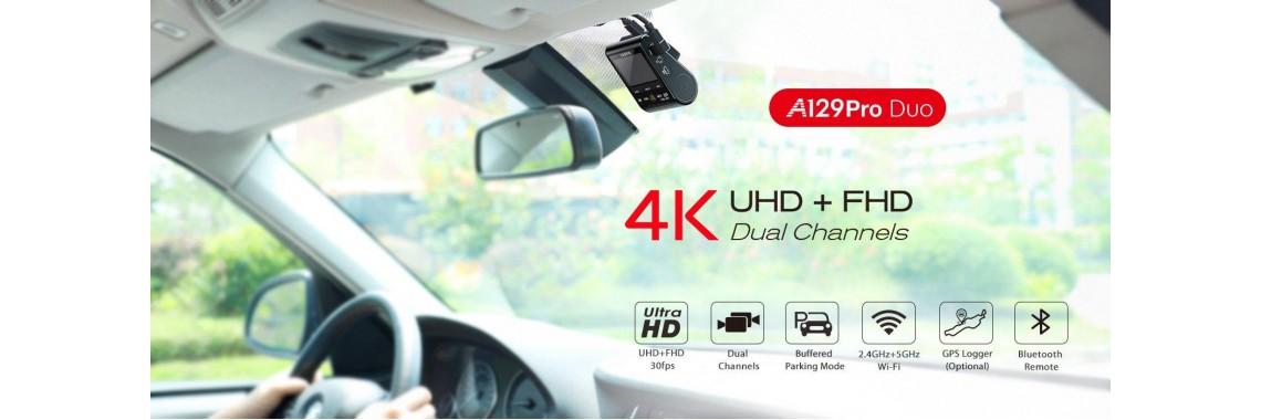 Camera video auto duală 4K