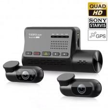 VIOFO A139 Trio GPS Cameră auto DVR duală 2K Quad HD Wi-Fi cu senzori de imagine Sony